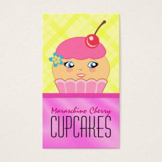 Rosa und gelbe Kuchen-Bäcker-Bäckerei-Visitenkarte Visitenkarten