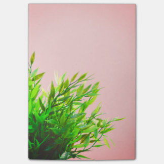 Rosa und grünes Haus-Pflanzen-Natur-Gartenarbeit Post-it Haftnotiz