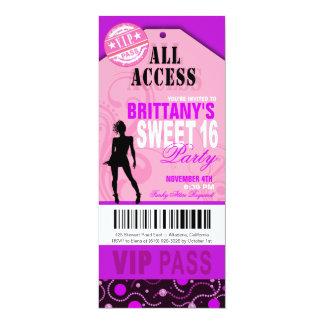 Rosa und lila Karten-Party VIP-Bonbon-16 10,2 X 23,5 Cm Einladungskarte