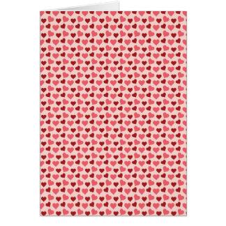Rosa und rote Valentinstag-Herz-Muster-Geschenke Karte