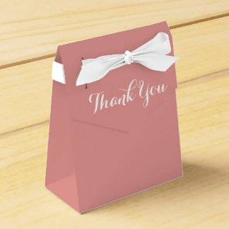 Rosa und Weiß dankt Ihnen - Hochzeits-Party Geschenkschachtel