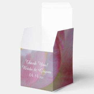 Rosa und weiße Tulpe-Blumen-Hochzeit Geschenkschachtel