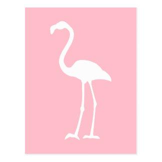 Rosa und weißer Flamingo Postkarte