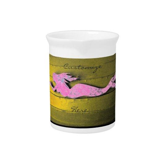 rosa Unterwassermeerjungfrau Getränke Krug