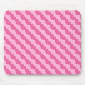 Rosa Valentinsgruß-Herz-Muster Mousepad