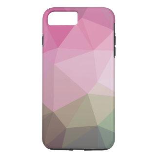 Rosa verblaßte polygonal iPhone 7 plus hülle