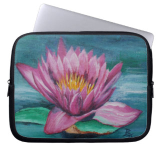 Rosa Wasser-Lilien-Laptop-Hülse Laptop Sleeve