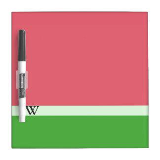 Rosa Wassermelone-Farbblock-trockenes Trockenlöschtafel