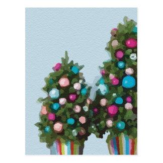 Rosa Weihnachtsbaum-super niedliche Sammlung Postkarte
