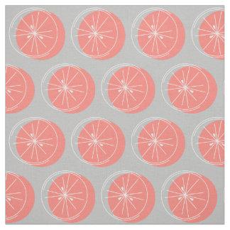 Rosa weißes Gewebegrau der Zitrusfrucht Stoff