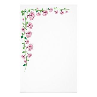Rosa Winden-Briefpapier Personalisierte Druckpapiere