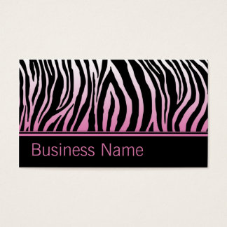 Rosa Zebra-Druck-Haar-Stylist-Friseur-Salon Visitenkarten