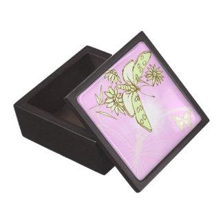Rosa Zitronen-Limone Schmetterlings-Geschenkboxen Schachtel