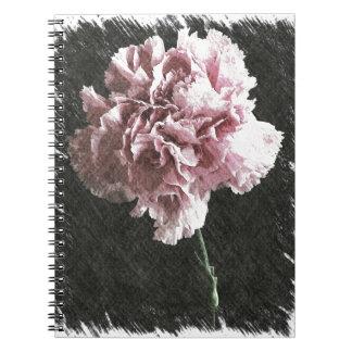 Rosagartennelke der Impressionismusmutter Tages Spiral Notizblock