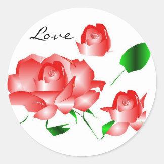 """""""Rosarote Liebe-"""" Aufkleber der Rosen-I"""