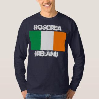 Roscrea, Irland mit irischer Flagge T-Shirt