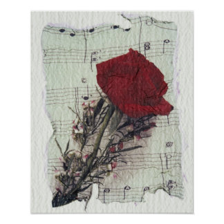 <Rose and Music> durch Kim Koza 2 Poster