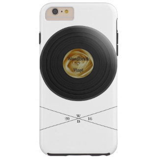 Rose-Vinyl/disc imprint with white bloom label Tough iPhone 6 Plus Hülle