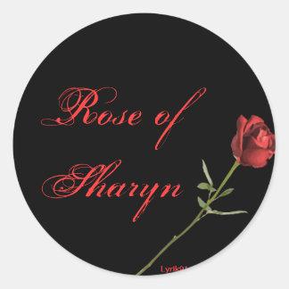 Rose von sharyn runder aufkleber