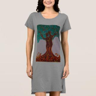 Rosemaries Wohlfühl Oase T - Shirt Kleid (Gemälde)