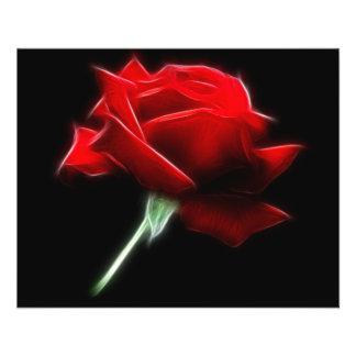 Rosen-Blumen-Pflanze 11,4 X 14,2 Cm Flyer