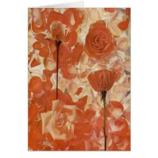 Rosen-Blumenblatt-Gemisch Grußkarte