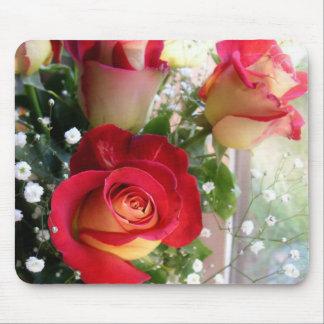 Rosen-Blumenstrauß-Fotografie-Mäusematte Mousepad