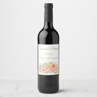 Rosen-Blumenstrauß-Wein-Aufkleber Weinetikett