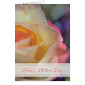 Rosen-glückliche Mutter-Tageskarte Karte