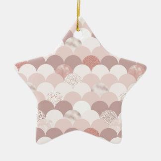Rosen-Gold und rosa Fliesen Keramik Ornament