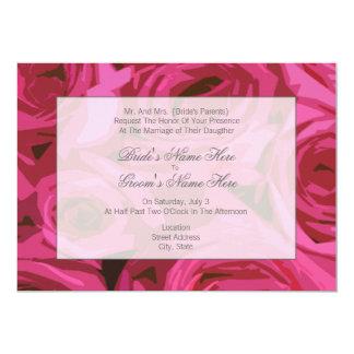 Rosen-Hochzeits-Einladung - von den Eltern der 12,7 X 17,8 Cm Einladungskarte