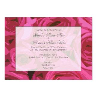 Rosen-Hochzeits-Einladung - zusammen mit Eltern 12,7 X 17,8 Cm Einladungskarte