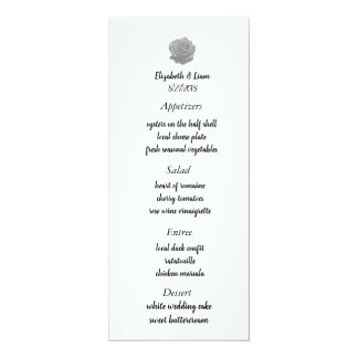 Rosen-Hochzeits-Menü Karte