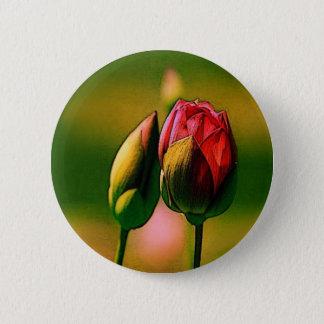 Rosen-Knospen Runder Button 5,1 Cm