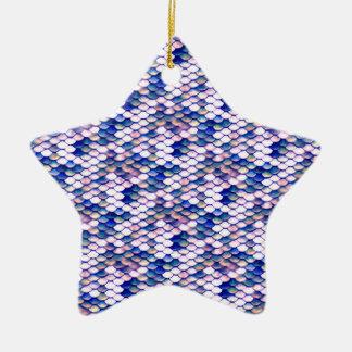 Rosen-Meerjungfrau-Geschichten-Muster Keramik Stern-Ornament