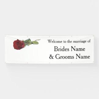 Rosen-moderne einfache elegante Hochzeits-Ideen Banner