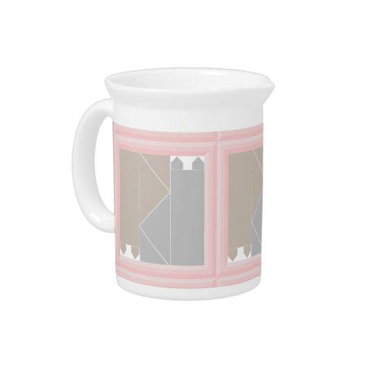 Rosen-Quarz-Katzen-Steppdecken-Grau und Getränke Pitcher