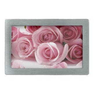 Rosen-rosa Blume Rechteckige Gürtelschnallen