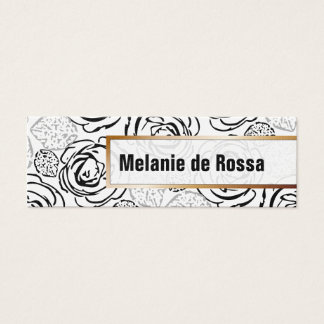 Rosen und Kupfer Mini Visitenkarte
