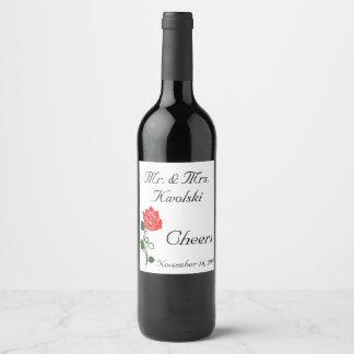 Rosen-Wein-Aufkleber Weinetikett