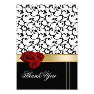 Rosendamast danken Ihnen zu kardieren Personalisierte Ankündigungskarte