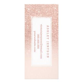 RosengoldImitat-Glitterrosa ombre Geschäftsdetails Werbekarte