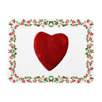 Rosenrahmen mit Herz Magnet