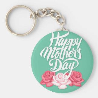 Rosentypographie-Muttertag Schlüsselanhänger
