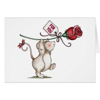 Rosig - Valentinsgruß-Karte Karte