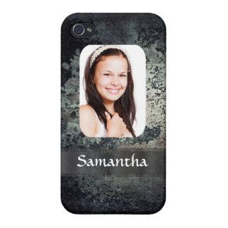 Rostige MetallFotoschablone iPhone 4 Hülle