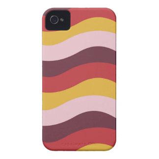 Rostige Wellen-Streifen Case-Mate iPhone 4 Hülle