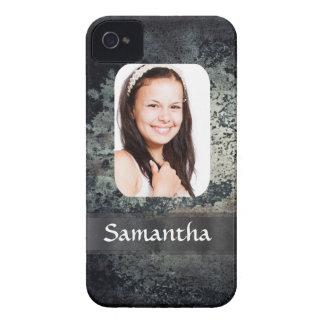 Rostiges Metallpersonalisierte Fotoschablone iPhone 4 Hülle