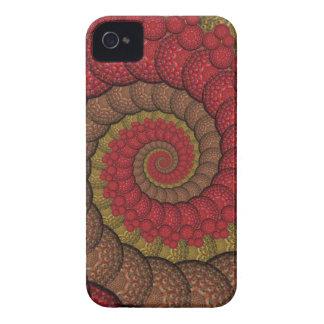 Rostiges rotes und orange Pfau-Fraktal iPhone 4 Case-Mate Hüllen
