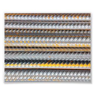 Rostiges Stahlstrichmuster Fotodruck